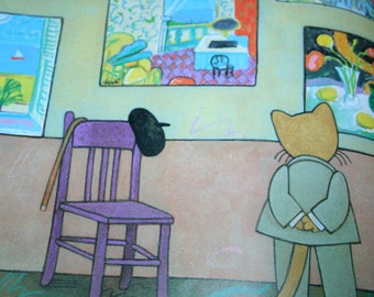 Bonjour, Mr. Satie, a gorgeous picture book by Tomie dePaola 1991 hardcover