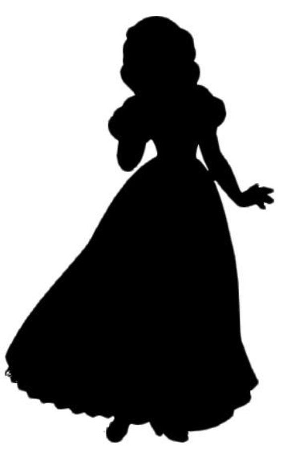 Snow White Silhouette Decal By Nerdvinyl On Etsy