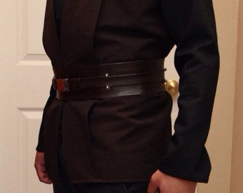 Jedi Belt - Brown Pleather with steel buckle