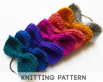 Bow Tie Knitting Pattern : Popular items for knit bow tie on Etsy