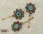 Lovely Vintage Hair Clip style Flower Gold Hair Clip, hair pin, for your hair or scarf,