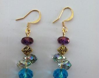 Gorgeous Swarovsky Crystal earrings!  Unique Beadwork