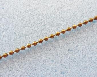 1m bronze tone chain -  1 yard bronze tone chain - bronze ball chain - 2mm ball chain - bronze chain
