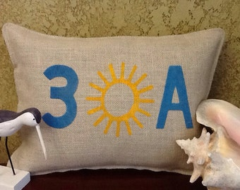 30A Stenciled Pillow