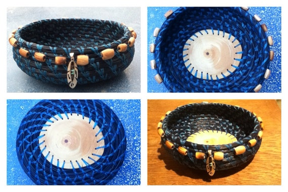 Handmade Pine Needle Baskets : Handmade pine needle basket