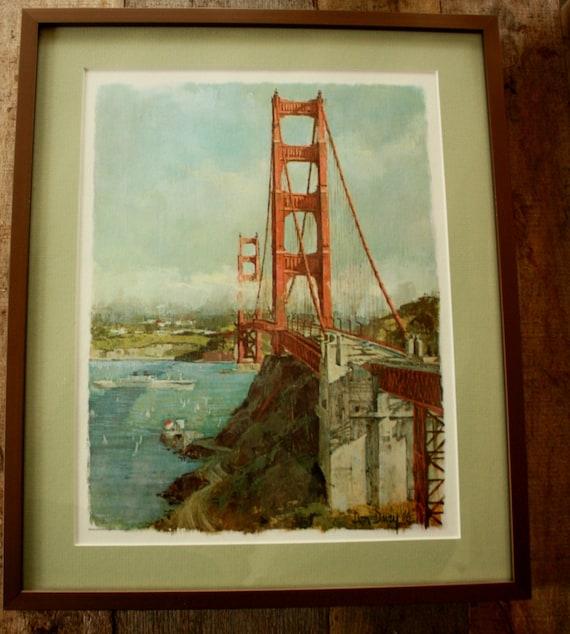 Reserved For Rene Vintage 1968 Don Davey San Francisco Print