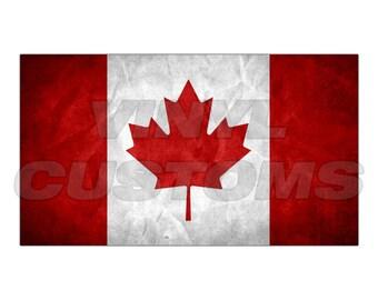 Canadian Flag Vinyl Decal Sticker