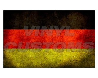 German Flag Vinyl Decal Sticker