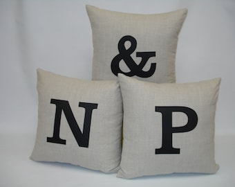 """Personalized Linen Cushion Cover 18"""" x 18"""""""