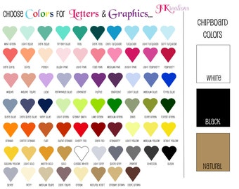 COLOR choices for banners - PLEASE do not purchase this listing