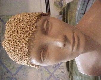 Antique Ecru Crochet Cap, it is not complete