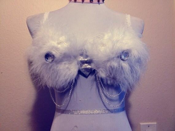 Snow Owl Rave Bra 34B