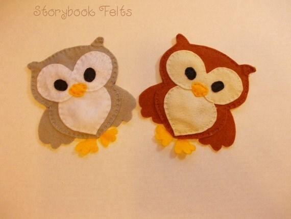 Felt Owl Coasters Set Of Four