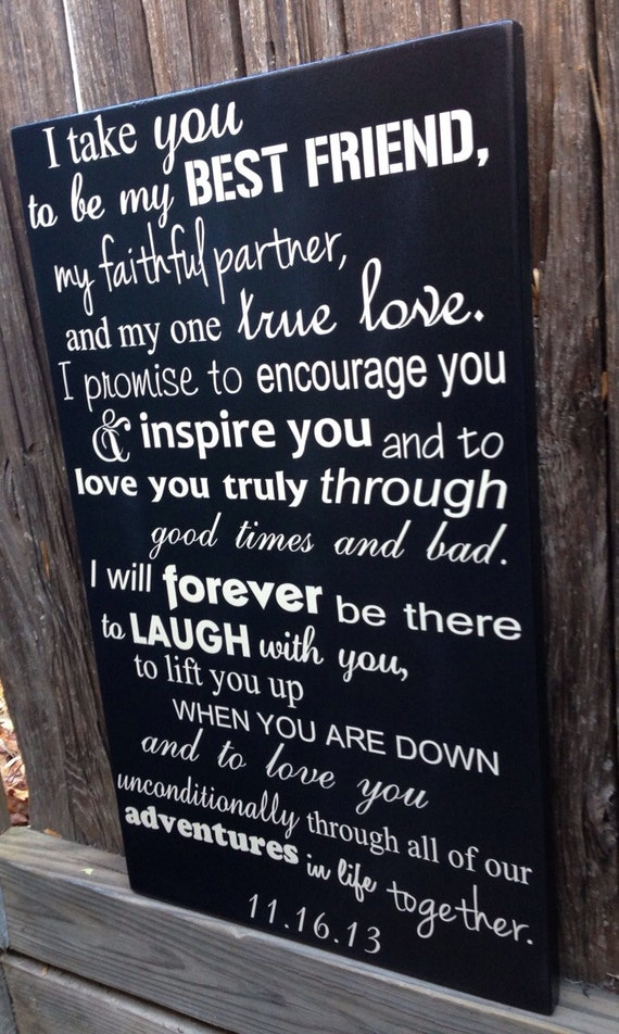 5th Anniversary Gift Fifth Anniversary Gift Wedding Vows Sign
