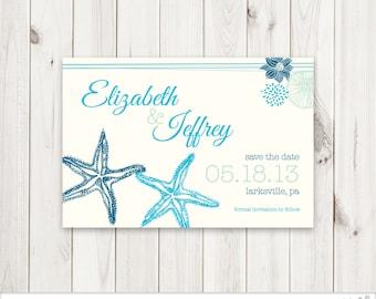 Starfish Save The Date Card