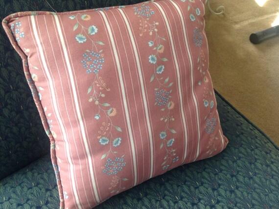 Vintage Accent Pillow Handmade Pillow Pink Accent Pillow