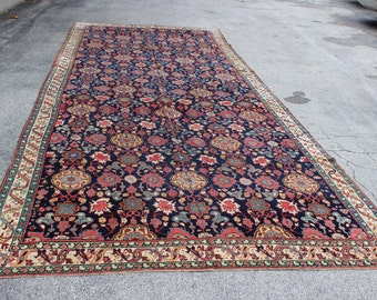 Antique 1870s-1880s Caucasian Karabagh Palace Sized Rug 9' x 22'