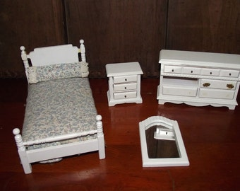 Vintage Doll Furniture Bedroom