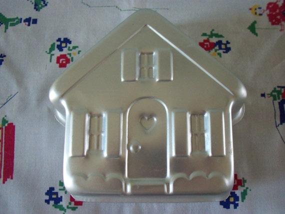 Vintage Wilton Cake Pan House Cottage 1980s Baking Kitchen