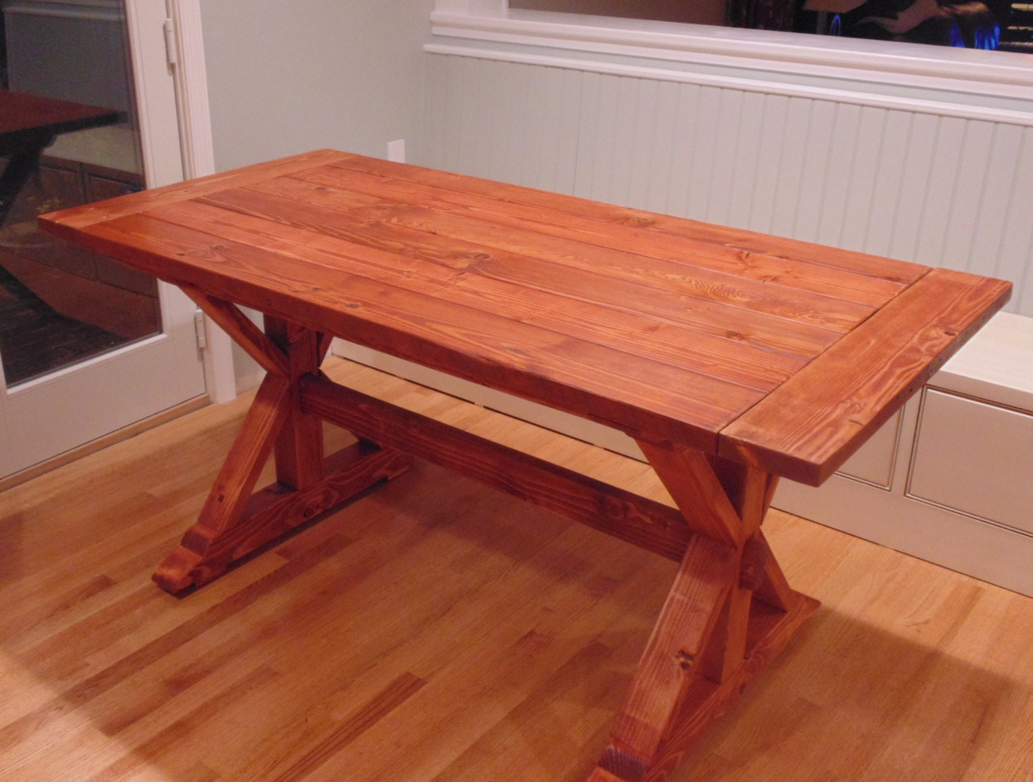 Farmhouse dining table reclaimed wood home design for Buy reclaimed wood los angeles