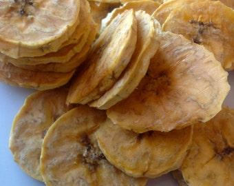 Organic Plantain Chips Dried / Gluten Free / Vegan / No Sugar Added / Oil Free / Unsulphered