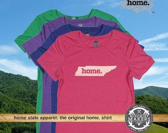 Tennessee Home. tshirt- Womens Red Green Royal Pink Purple