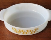 Vintage Milk Glass Bowl with Atomic Star Design