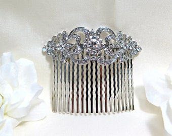 Vintage Inspired bridal hair comb,crystal hair comb,Swarovski hair comb,wedding hair comb,bridal hair accessories,wedding hair, HC010