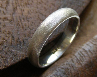 Sterling Silver wedding ring - made to order, Wedding Ring, wedding Band, Eco Friendly Silver Ring