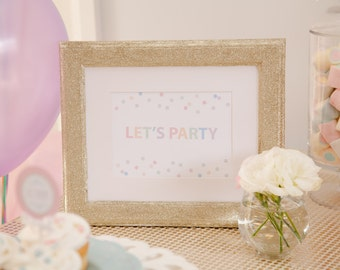 Ice Cream Party / Ice Cream Social Confetti / Sprinkle Themed Sign / Lets Party- INSTANT DOWNLOAD