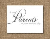 To Our Parents on Your Wedding Day - Wedding Card