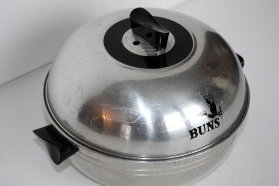 Vintage Metal Stove Top Bun Warmer Oven West Bend Serving
