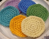 Crochet Face Scrubbies, READY TO SHIP, Set of Four Spa Face Washcloths For the Home, Small Valentine's Gift