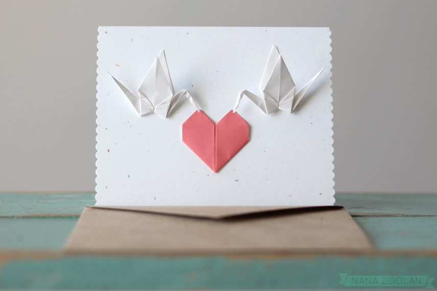 November 2019 Monthly Feature: Origami Page: Crane Card Holder   570x855