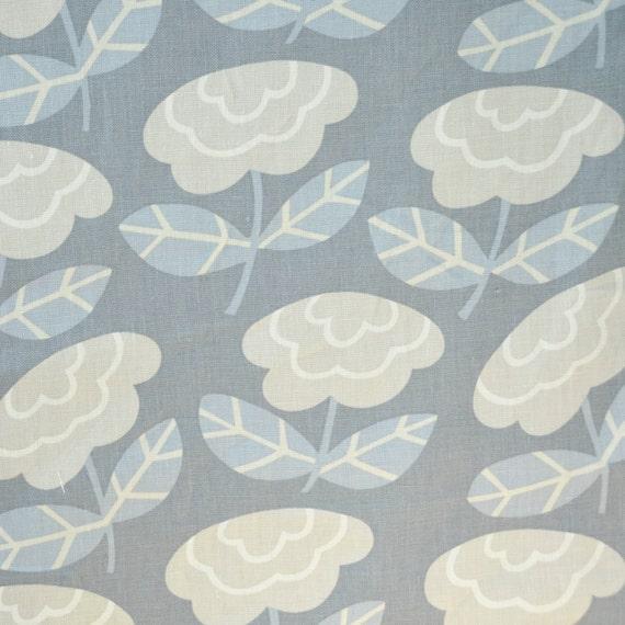 Home Decor Fabric Designer Fabric 100 Linen Blue Floral