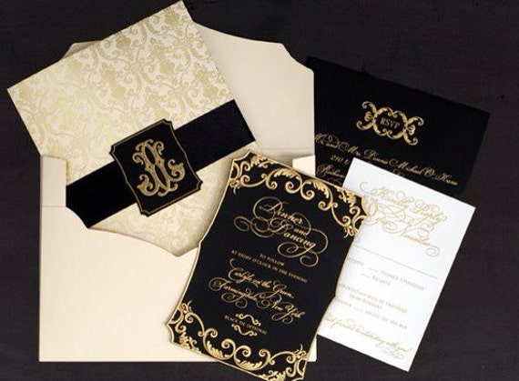 Great Wedding Invites: Wedding Invitation The Great Gatsby Gold By