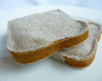Felt Bread Slice Felt Toast, choose from one piece or 2