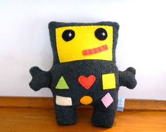 Stuffed Robot Plush, Shapes and Colors Robot Toy, Kids Birthday Gift