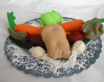 Felt food Vegetable Set, Felt Food Veggies,