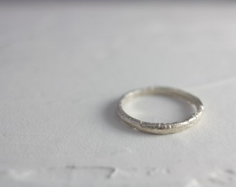 Sterling Silver Simple Ring, Silver Ring, Simple Ring, Statement Ring, Stacking Ring, Handmade Ring, summer, Gift for her, Spring, Ring