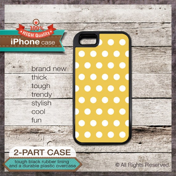 iPhone 6, 6+, 5 5S, 5C, 4 4S, Samsung Galaxy S3, S4 Modern Graphic 17a Polka dot on Gold