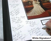 Signature Mat  WITH Frame. Silver, Gold, White or Black 20x24 Signature Mat. Personalized for your wedding or event