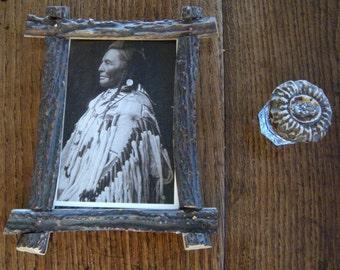 Antler(Elk)Frame, also shown Antler Lid on Antique Jar(separate listing)