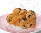Chocolate Chip Cookies Heart (12) Edible Gift - Edible Favor - Valentines - College Student Gift - Teacher Gift - Gourmet - Wedding Favor