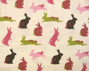 "0,5 m Printed cotton fabric  ""Linz"" Westfalen 150 cm w,  hare"