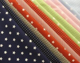 """Cotton Fabric package 12 pieces """"Capri II"""" 48x48 cm Cotton fabric Westfalen"""