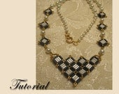 PDF for Chelsea's Cubed Necklace - beadweaving beaded seed bead jewelry beading pattern tutorial