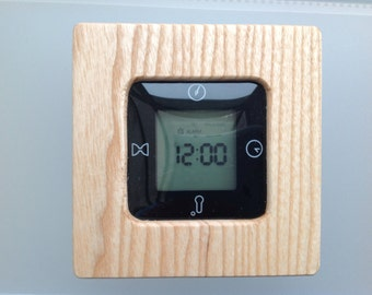 Hand Turned English Ash Wooden Calendar, Alarm, Timer and Temperature.