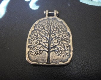 solid bronze charm or pendant with tree of life, tree of life,antique bronze pendant,bronze  tree of life