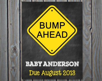 Bump Ahead Pregnancy Announcement Photo Prop // Pregnancy Reveal